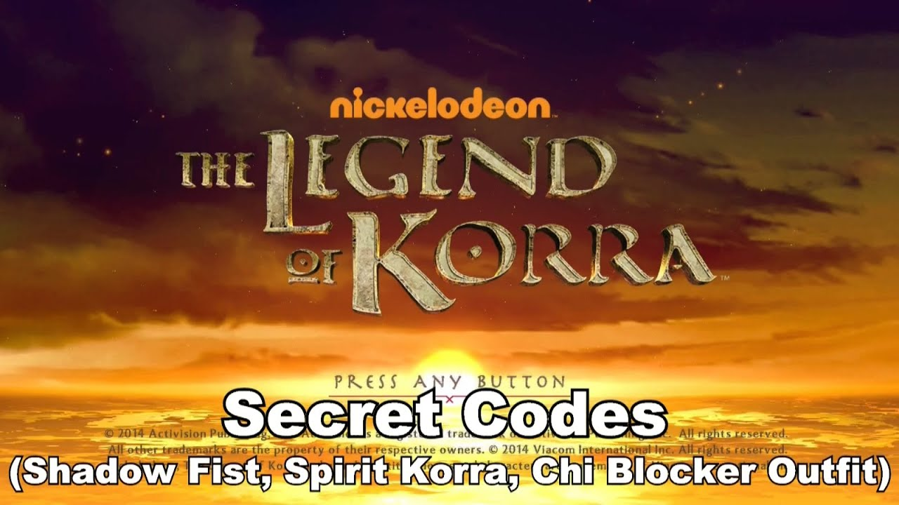 The Legend of Korra - Secret Outfit Codes - YouTube