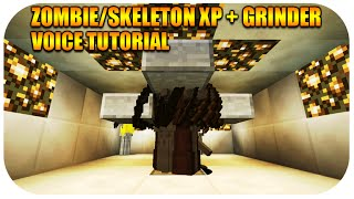 Minecraft Xbox & Playstation Skeleton + Zombie XP Farm Grinder Survival Mode Best Guide Voice Tut