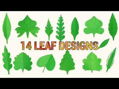 DIY PAPER LEAVES | 14 DIFFERENT LEAF CUTTING DESIGN IDEAS