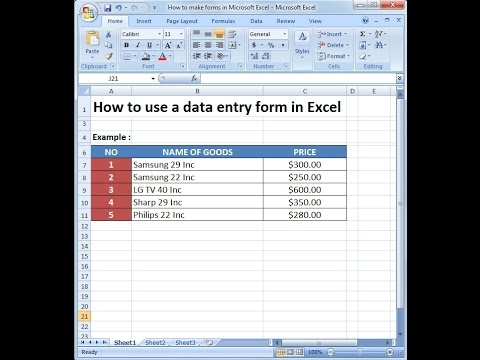 Microsoft Excel Training How To Use A Data Entry Form In Ms Excel