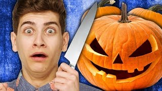 PUMPKIN CARVING CHALLENGE (Squad Vlogs)