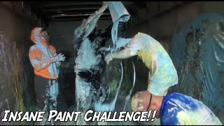 CRAZY PAINT CHALLENGE!! - COLLABFEST (how to pranks)