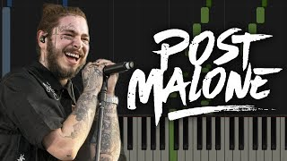 Post Malone - rockstar ft. 21 Savage   Piano Tutorial & Sheets Video