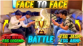 FREE FIRE FACE TO FACE BATTLE IN MAD HOUSE || TEAM RITIK VS TEAM JASH - TWO SIDE GAMERS