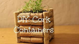DIY Cork Container
