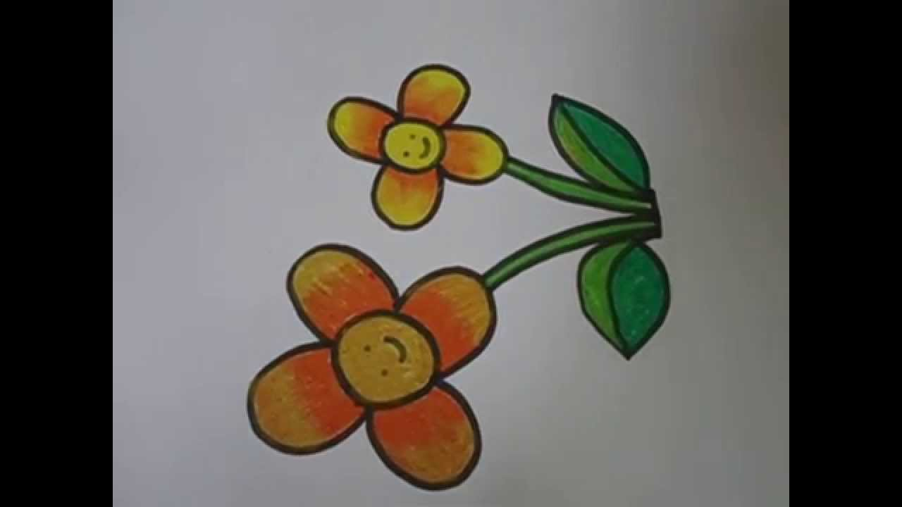 easy drawing for kids,,flower drawing in simple steps ...