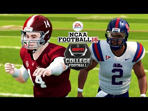 NCAA Football 16 | #15 Ole Mississippi at #2 Alabama | Coker's Assault!