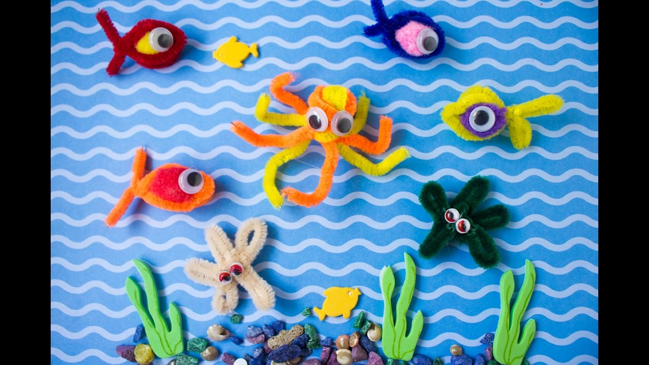 Simple Pipe Cleaner Fishing Game Easy Craft Ideas For Kids
