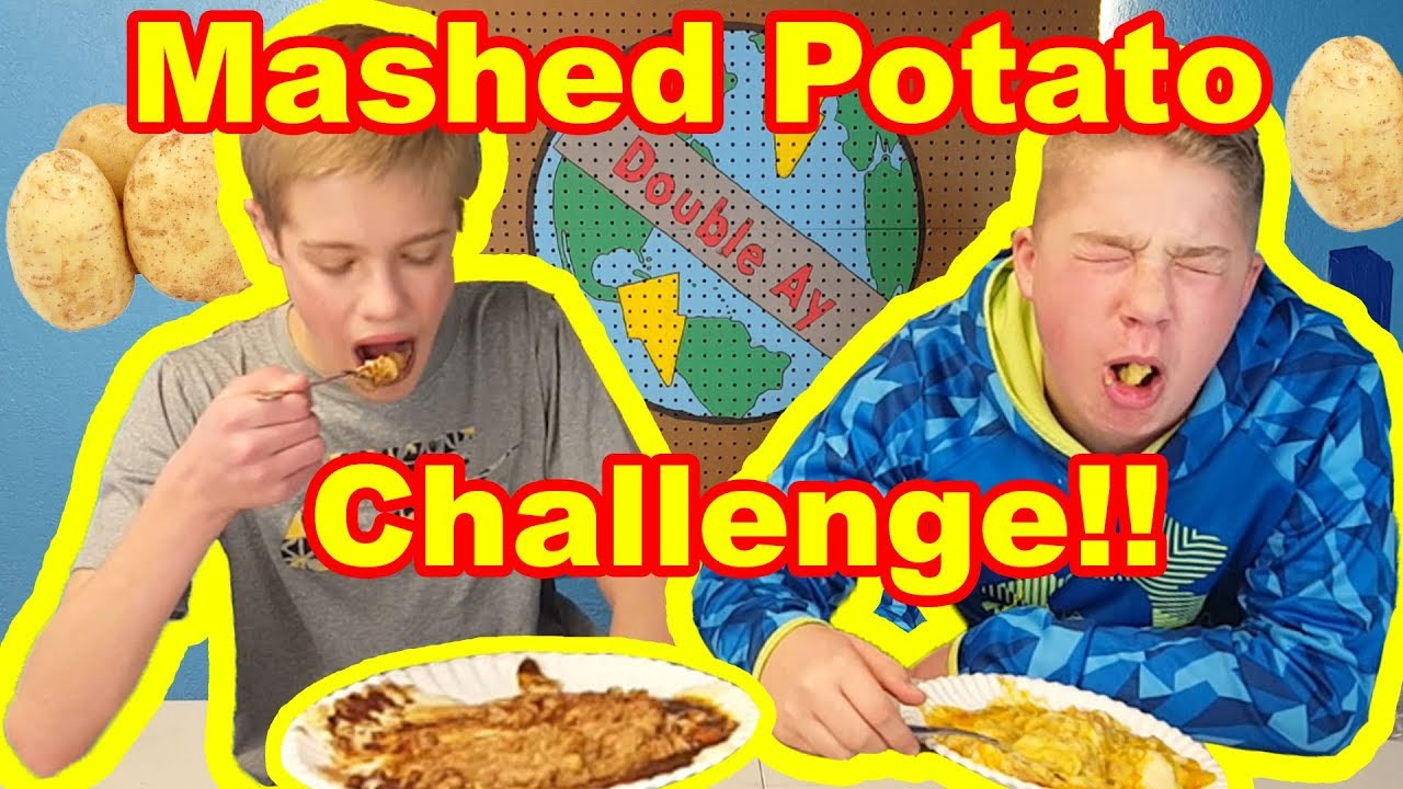 NASTY MASHED POTATO CHALLENGE!! | *gagging alert*