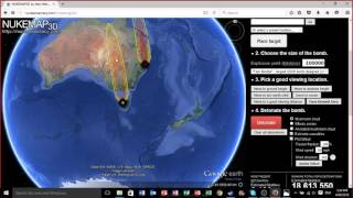 Nukemap 3D and stuffing around with friends