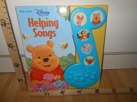 Disney Winnie the pooh Helping songsPlay a song book