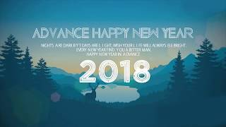New Year 2018 With Bright Crackers