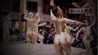 Repeat youtube video 2012年 大須大道町人祭り 金粉ショー 編集済み