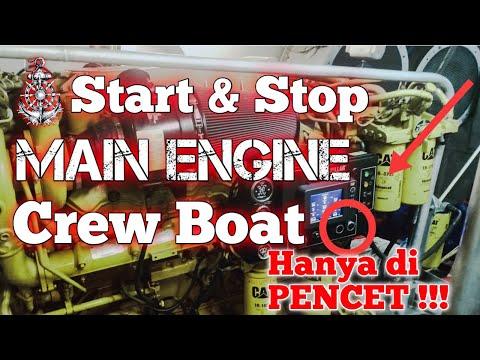 Cara Start Mesin Kapal | Offshore Crew Boat Zamil 102