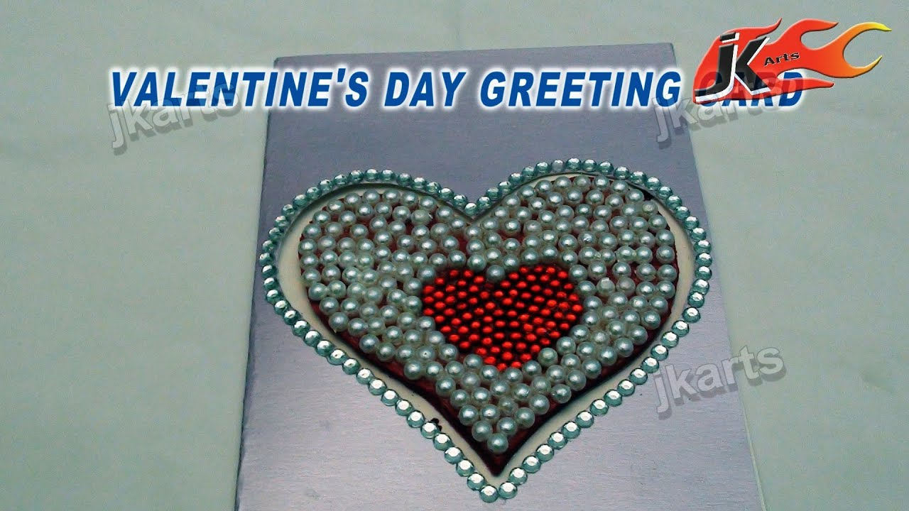 DIY How to make valentines day Greeting Card Style 2 JK Arts – How to Make Valentine Greeting Card