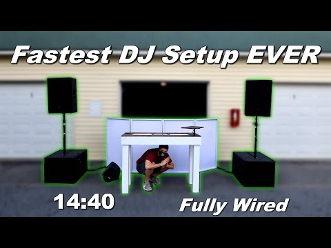 FASTEST Mobile DJ Setup EVER! (Fully Wired)