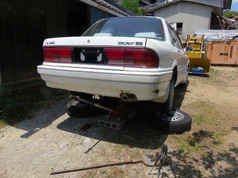 GALANTのマフラーの修理、ブレーキフルード交換、燃料タンク点検