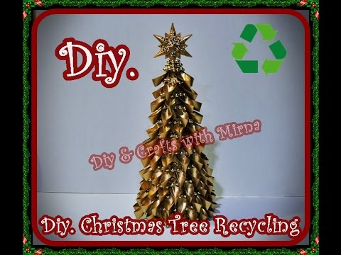Christmas Tree Using Recycled Materials.Diy How To Make A Christmas Tree Recycling