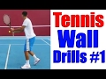 Tennis Practice Wall - Training Drills Part One