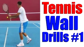 Tennis Practice Wall | Training Drills Part 1 | Top Tennis Training