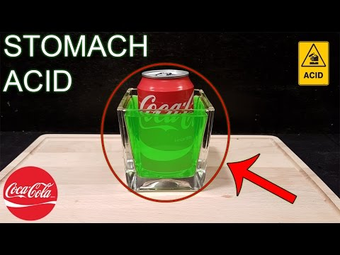 EXPERIMENT POURING COCA COLA IN STOMACH ACID!! - EPIC REACTION!