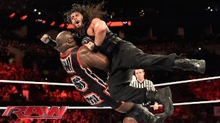 Roman Reigns vs. Mark Henry: Raw, June 1, 2015