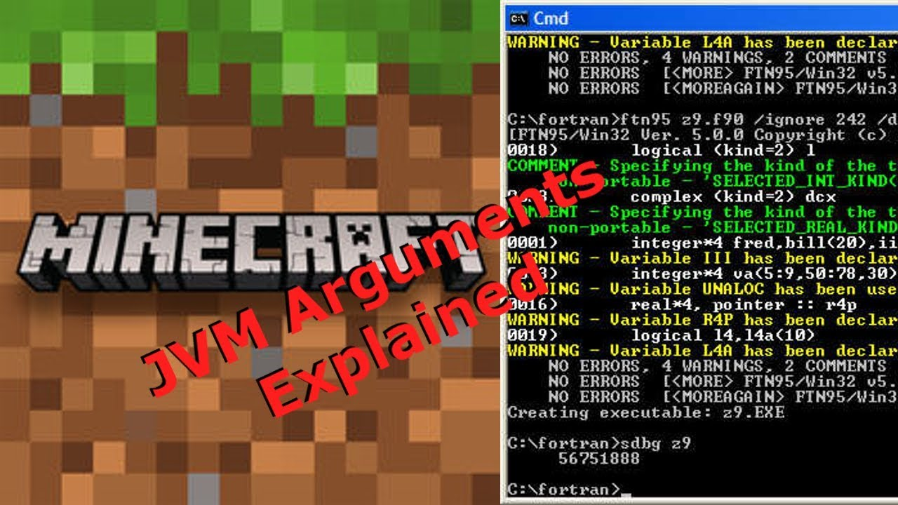 Minecraft JVM Arguments and Optimization YouTube