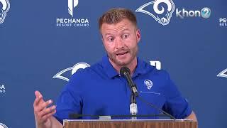 Los Angeles Rams head coach Sean McVay full postgame press conference