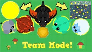 MOPE.IO TEAM MODE DESTRUCTION! SERVER TAKEOVER IN MOPE.IO (Mopeio NEW Update)