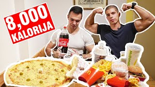 8000 KALORIJA - cheat meal challenge!