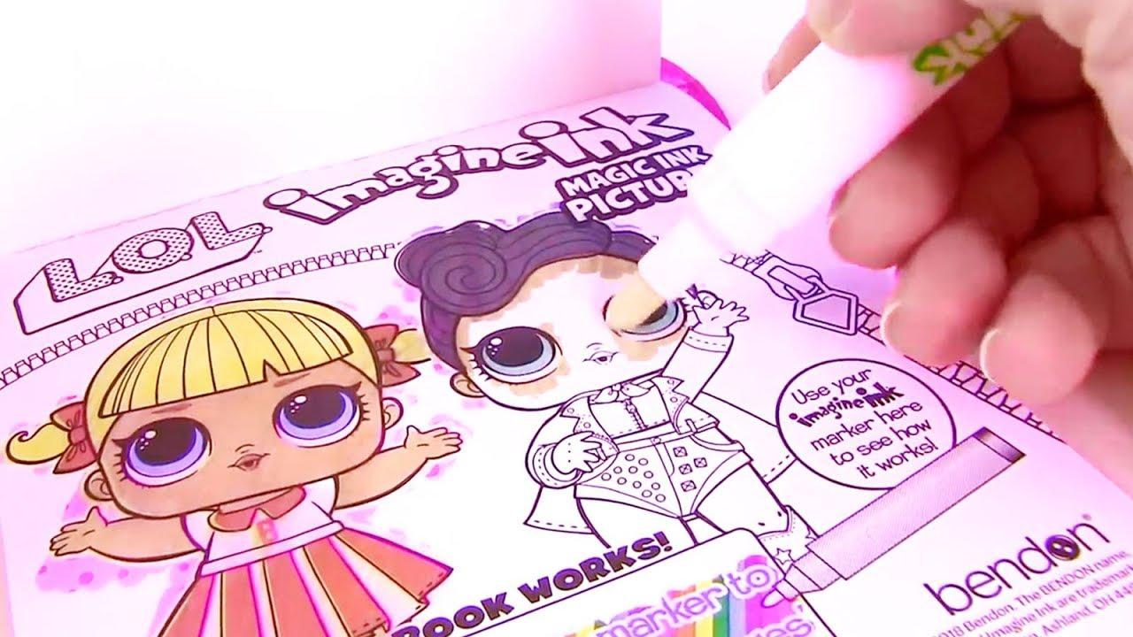 ВОЛШЕБНЫЙ МАРКЕР - КУКЛЫ ЛОЛ! Imagine Ink Lol #Coloring ...