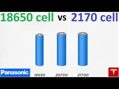 18650 Cells Vs 2170 Teslamotors