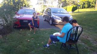 Audi a4 kids drawing the car