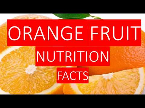 ORANGE FRUIT NUTRITION FACTS AND HEALTH BENEFITS