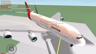 [Roblox] Qantas A380 Flight [] First time!