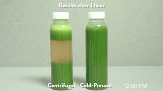 Centrifugal Juice vs Cold-Pressed Juice Timelapse
