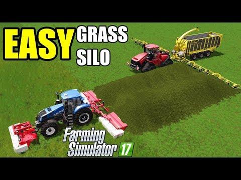 Farming Simulator 17   EASY GRASS !! EASY FILLING !! EASY SILO !!!