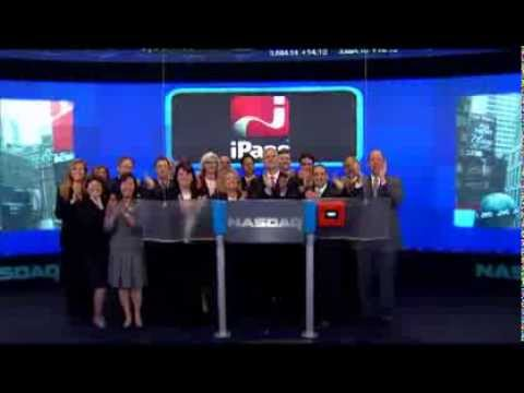 iPass CEO Evan Kaplan ringing NASDAQ closing bell for 10-year anniversary