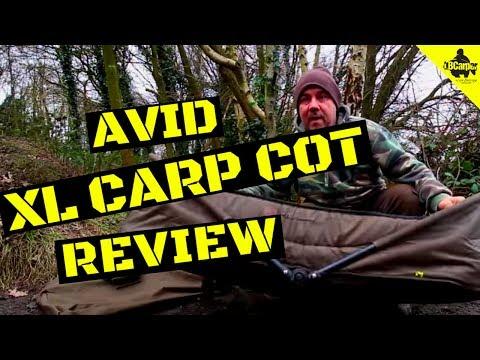 REAL FISHING TACKLE REVIEWS AVID XL CARP COT