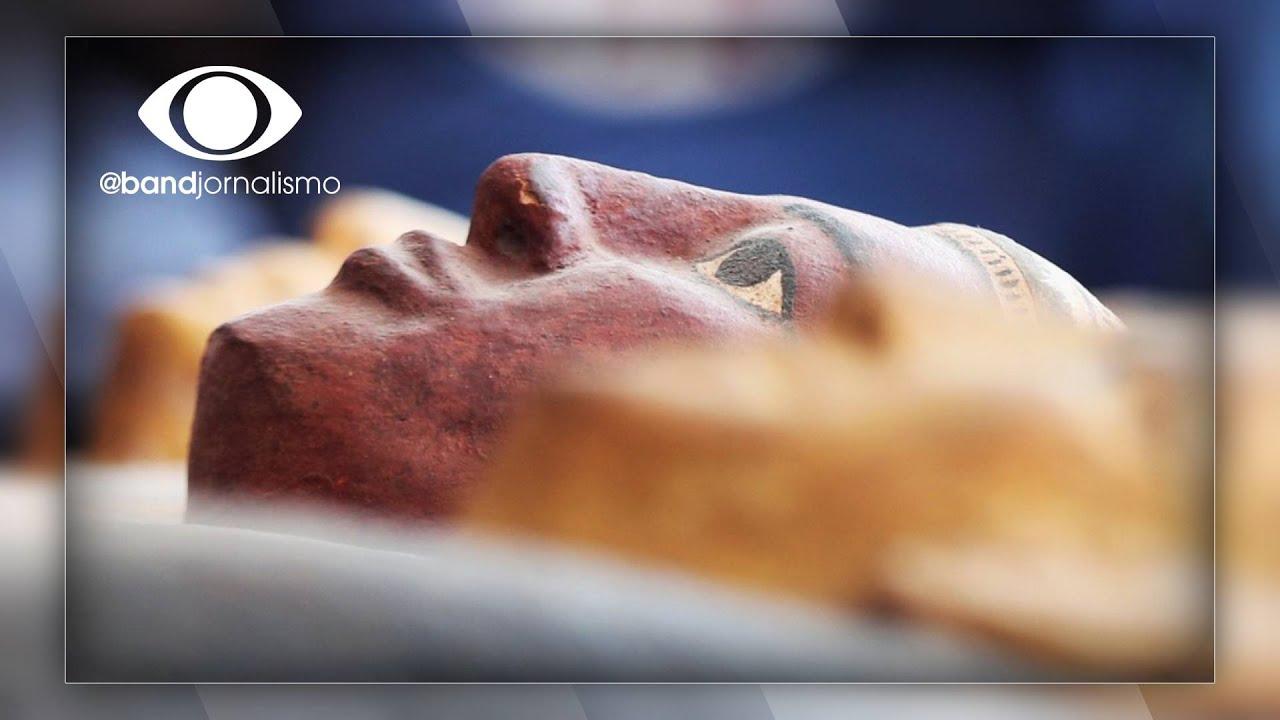 Egito apresenta 59 sarcófagos com cerca de 2500 anos