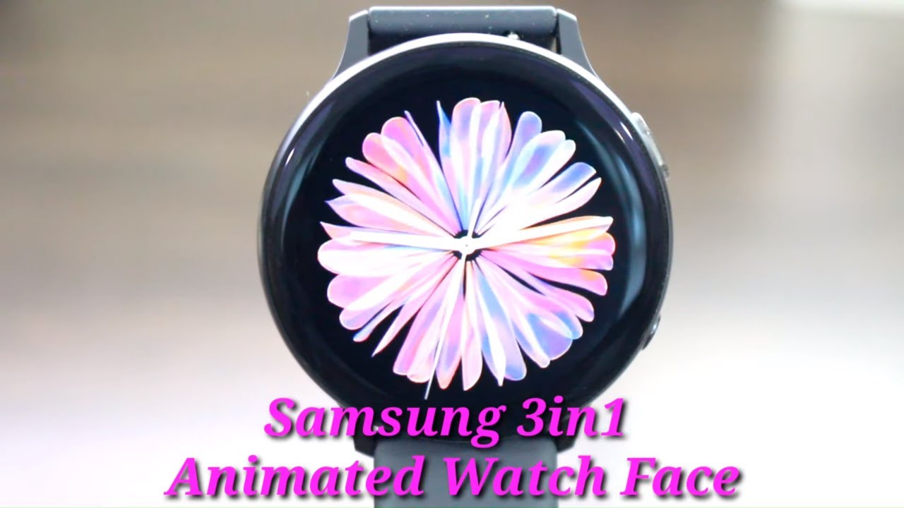 Samsung Galaxy Watch Active 2 Best Live 3in1 Animated Watch Face Wallpaper Review Youtube