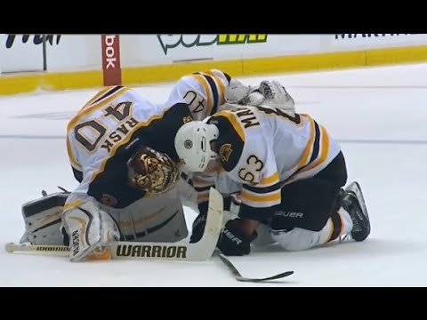 Prust spears Marchand in the groin