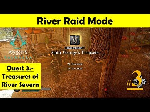 Assassins Creed Valhalla River Raid - Treasure of River Severn | Find Saint George Legendary Armor