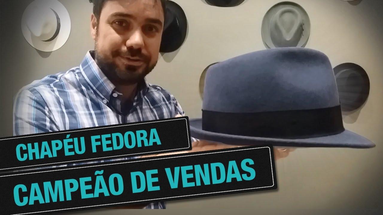 CHAPÉU FEDORA DE ABA CURTA - YouTube 672438d333a