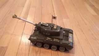 Remco 1960's Battery Op Us Army Light Bulldog Tank Toy With Bullets, Orig Box At Connectibles
