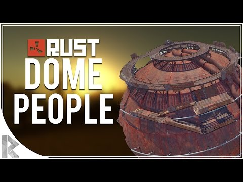 RAIDING THE DOME PEOPLE! - Rust Survival with Friends #4