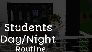 Bloxburg Students Day/Night Routine (ROBLOX)