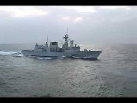 HMCS Toronto is sailing