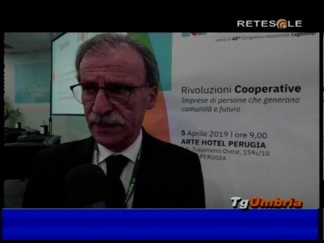 Dino Ricci nuovo Presidente Legacoop Umbria servizio Retesole