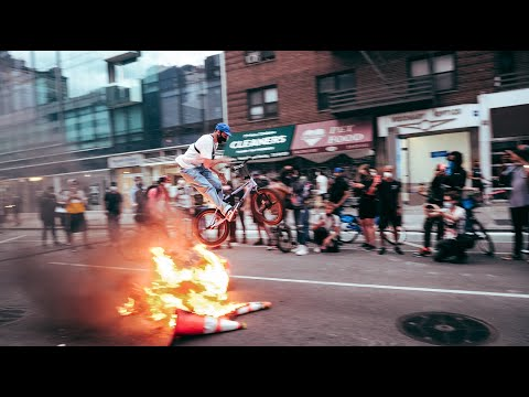 Riding BMX in a NYC Protest